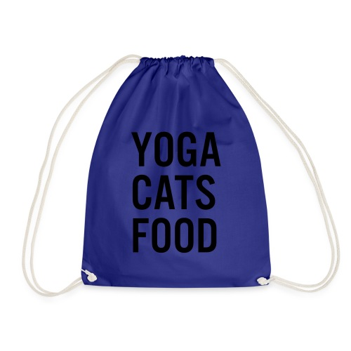 YOGA CATS FOOD LADIES ORGANIC T-SHIRT - Gymnastikpåse