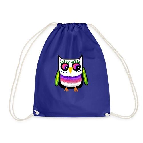 Colorful owl - Drawstring Bag