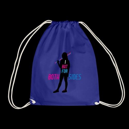 I bat for both sides female - Drawstring Bag