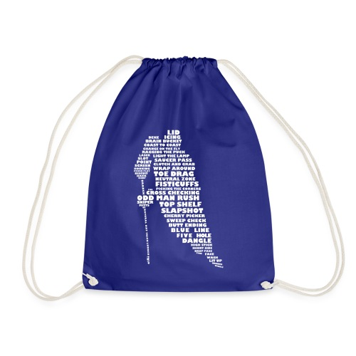 Language of Hockey (White) - Drawstring Bag