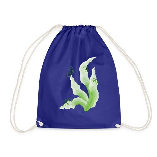 grüne Aquarellpinsel - Turnbeutel