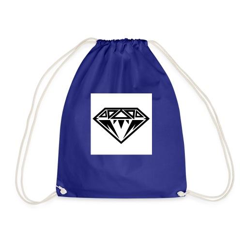 Diamond-Black-e1368735776972 - Drawstring Bag