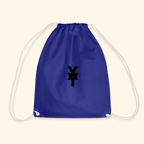 XY Logo In Black - Drawstring Bag