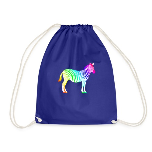 Zebra Afrika Equus Regenbogen Safari Sommer Magie - Drawstring Bag