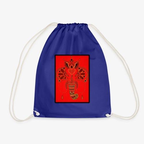 Elefant Orientalisch Handgemalt Geschenkidee - Turnbeutel