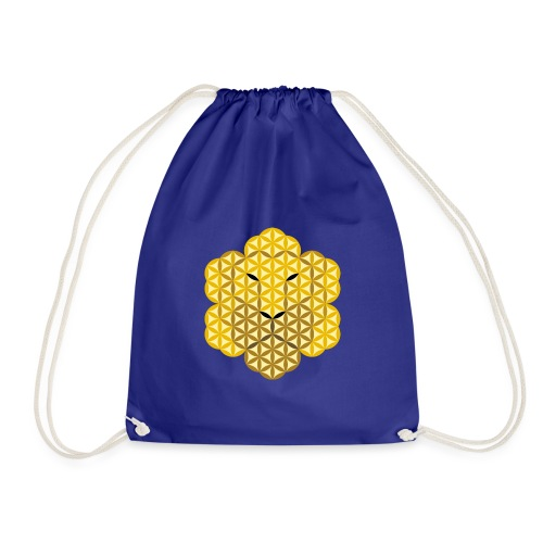 The Lion Of Life - Alpha Male, Crown 01 - Drawstring Bag