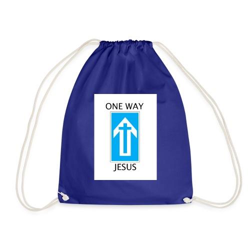 One Way, Jesus - Drawstring Bag