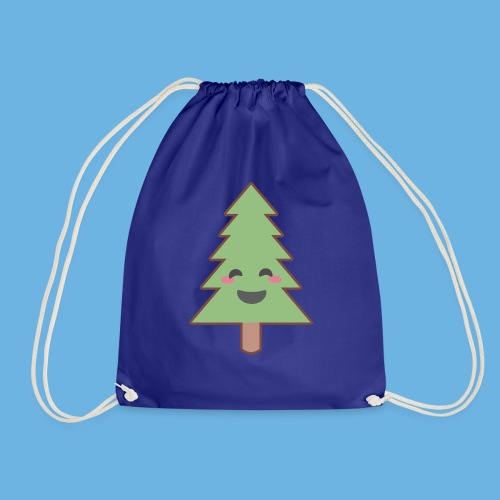 Kawaii Christmas Tree - Drawstring Bag