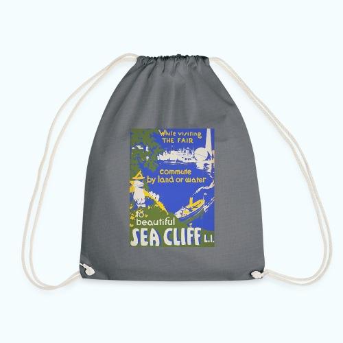 Lake travel vintage poster - Drawstring Bag