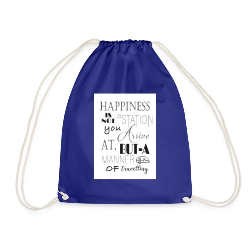 Travel Happy - Drawstring Bag