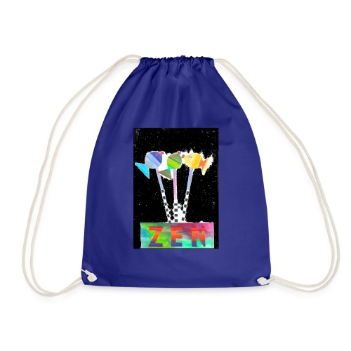 zen fish - Drawstring Bag