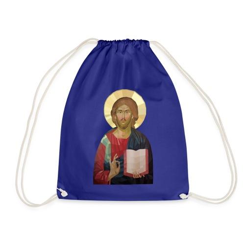Abstract Jesus - Drawstring Bag