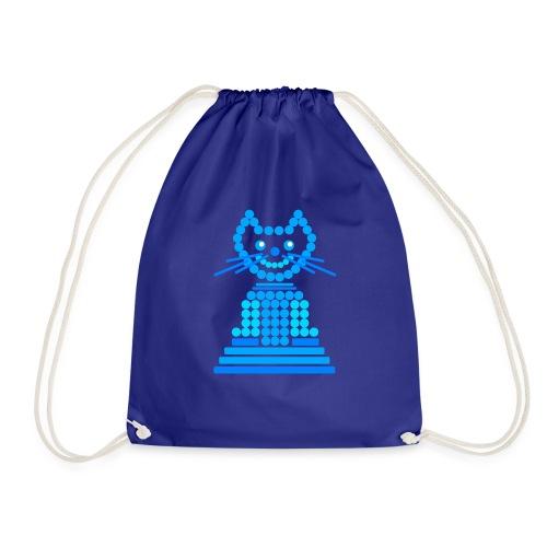 gatto cerchi blu - Sacca sportiva