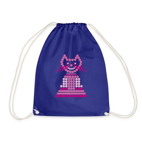 gatto cerchi rosa - Sacca sportiva