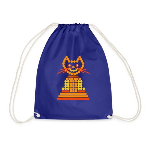 gatto cerchi arancione - Sacca sportiva