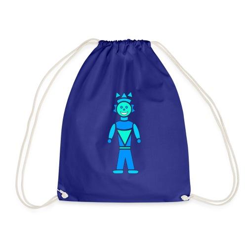 robot azzurro - Sacca sportiva