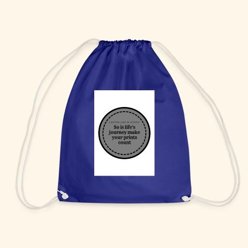 So is life s journey - Drawstring Bag