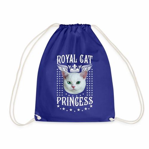 26 Royal Cat Princess white feine weiße Katze - Turnbeutel