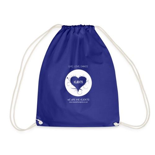 Live Love Dance White - Drawstring Bag