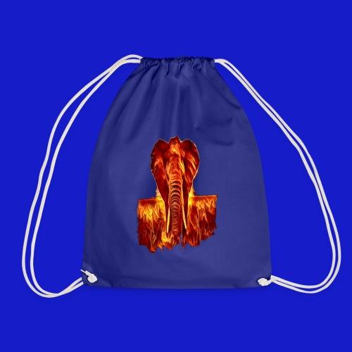 Fire elephant 🔥 🐘 - Drawstring Bag