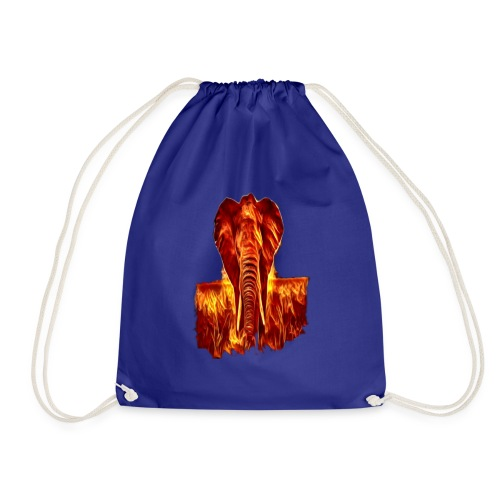 Fire elephant 🔥 🐘 - Drawstring Bag