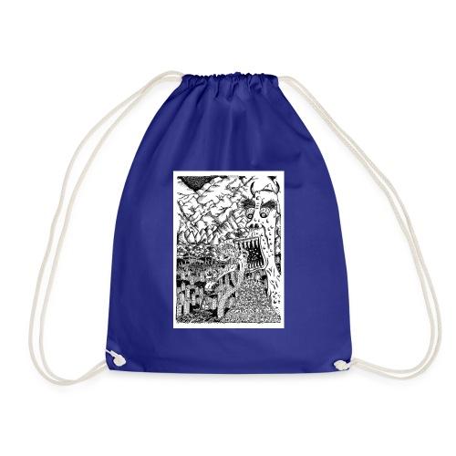 Sea Monsters T-Shirt by Backhouse - Drawstring Bag