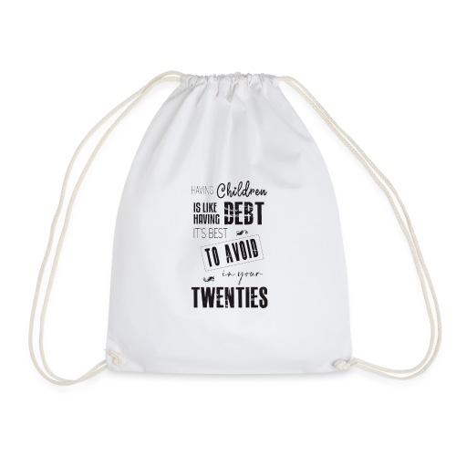 Hide in your 20s - Drawstring Bag