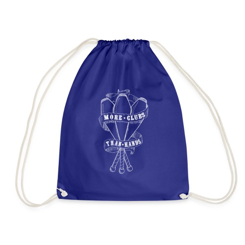 MORE CLUBS THAN HANDS - Drawstring Bag