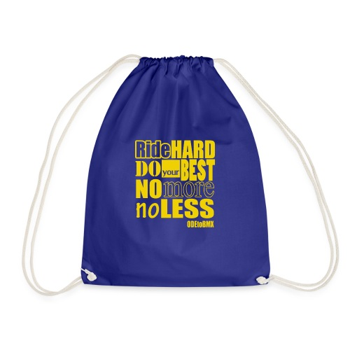 ridehard yellow - Drawstring Bag