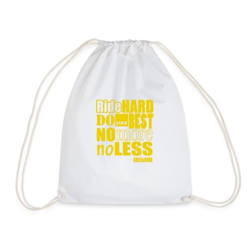 ridehard yellow - Drawstring Bag