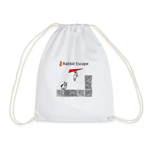 Rabbit Escape Hang-glider T-shirt - Drawstring Bag