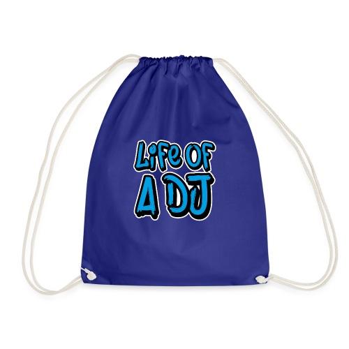 Life of a DJ- Blue - Drawstring Bag
