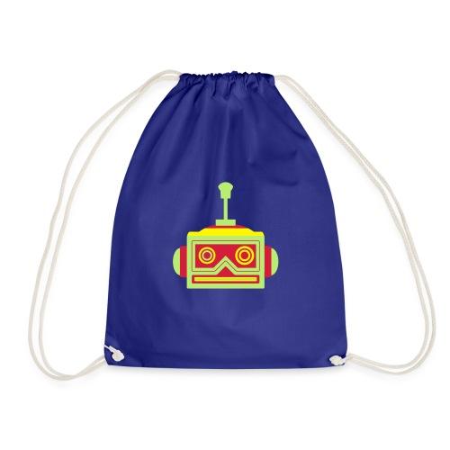 Robot head - Drawstring Bag