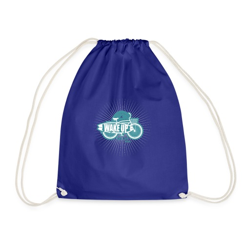wake up and live - Drawstring Bag