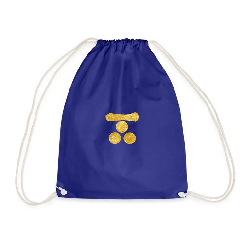 Mori Mon Japanese samurai clan in gold - Drawstring Bag