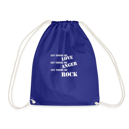 Love Anger Rock - Drawstring Bag