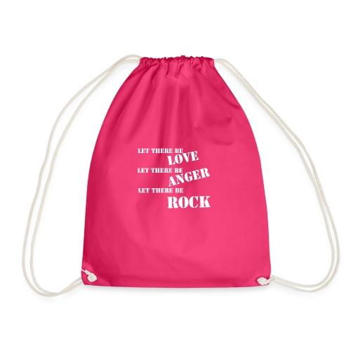Love Anger Rock - Drawstring Bag