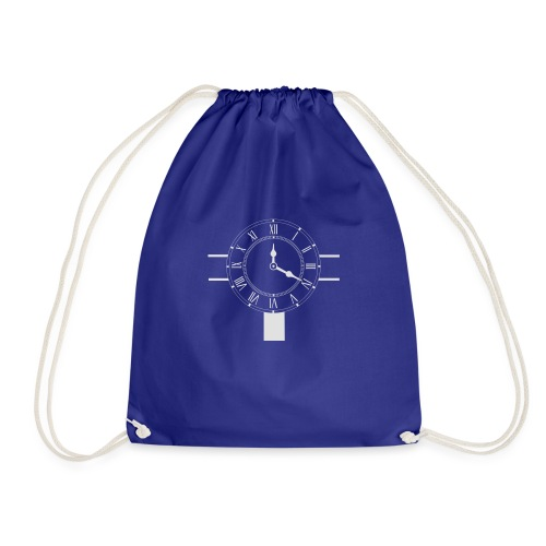 Navy pillow design - Drawstring Bag