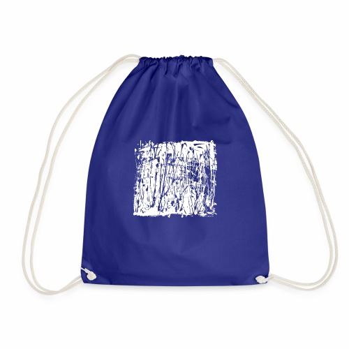 Paint Blob White - Drawstring Bag