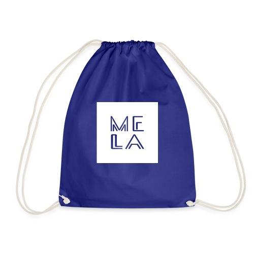 Mela Hvit Logo - Gymbag