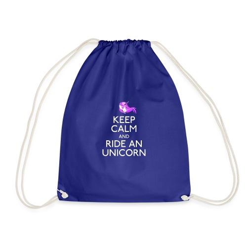 Keep Calm and Ride Unicorn - Gymtas