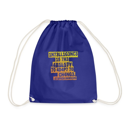 Stephen Hawking - Intelligence - Drawstring Bag