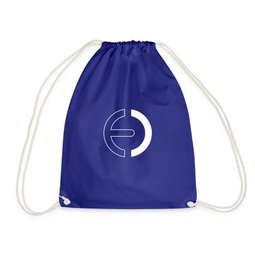 logo white only - Drawstring Bag