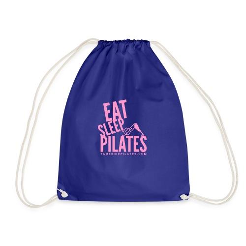 eat sleep pilates 2019 pink - Drawstring Bag