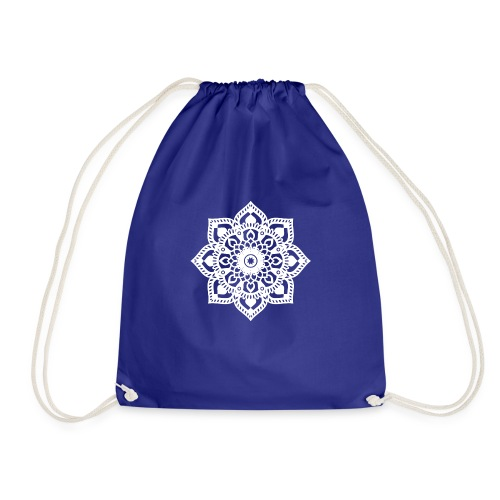 Happy Yoga Mind Mandala negativ - Turnbeutel