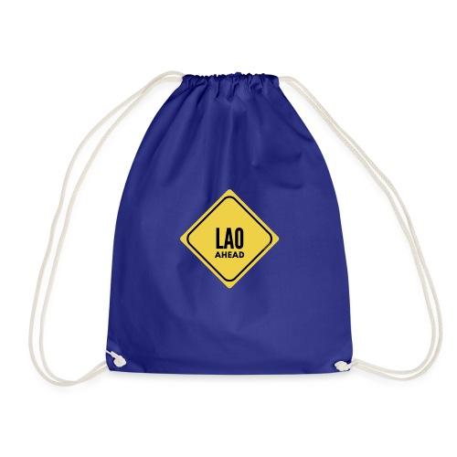 Be careful, a laotian in front! - Drawstring Bag