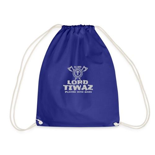 Lord Tiwaz Logo Gray - Drawstring Bag