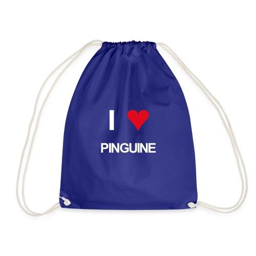 I love Pinguine - Turnbeutel