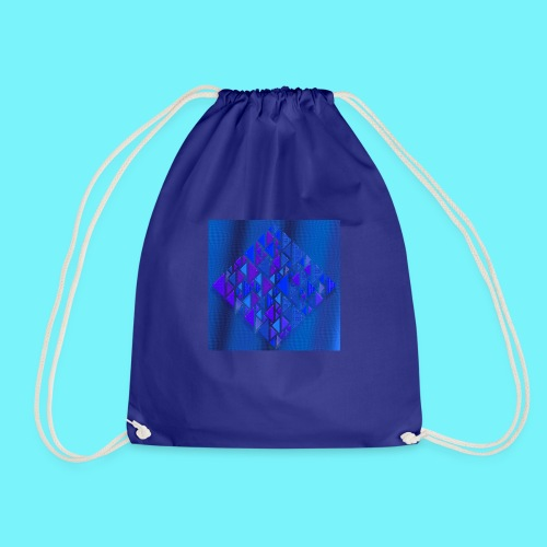 Pythagorean right- and left- angle fish in blue - Drawstring Bag