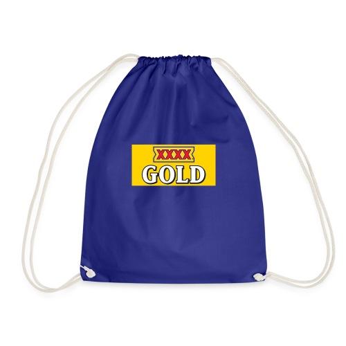 Gold Stubby Logo Beer - Drawstring Bag